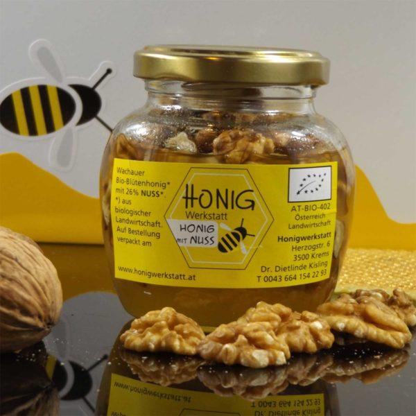 Wachauer bio Honig mit Waldviertler Nüssen 200g